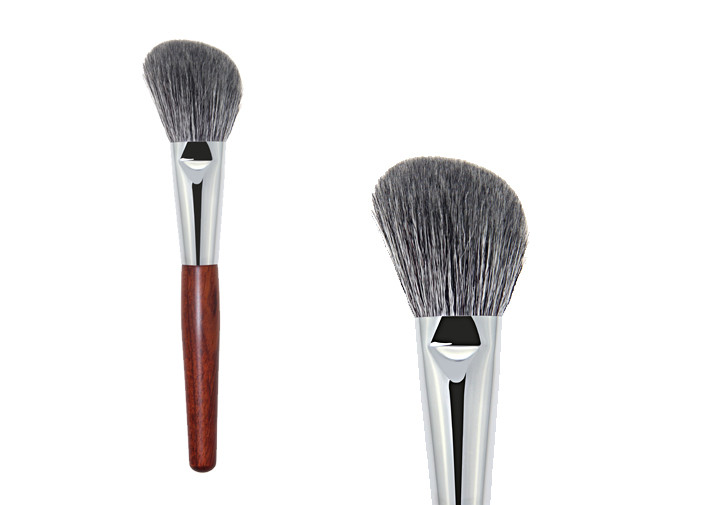 Round Contouring Foundation Makeup Brush For Bronzer With Wooden Handle