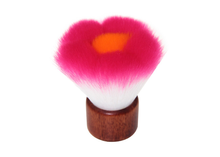 Foundation Kabuki Makeup Brush Pink Flower Synthetic Hair Makeup Brushes
