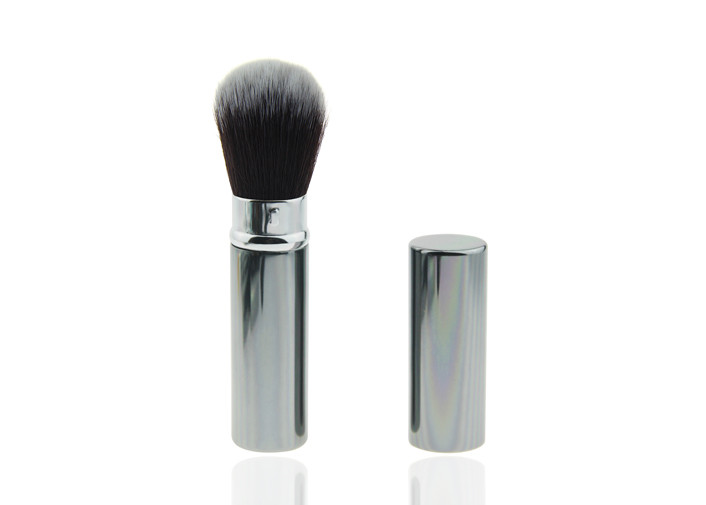Custom Beautiful Retractable Makeup Foundation Brushes Professional , Synthetic Hair
