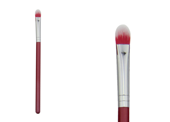 Travel Size Red Synthetic Concealer Blending Brush For Eyeshadow Makeup